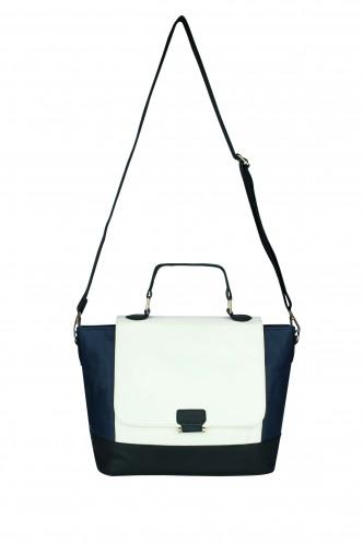Hand Bags-The Surface Of Sea Colorblock Handbag