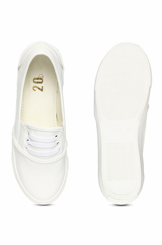 Sneakers and Loafers-The White Laid Back Sneakers