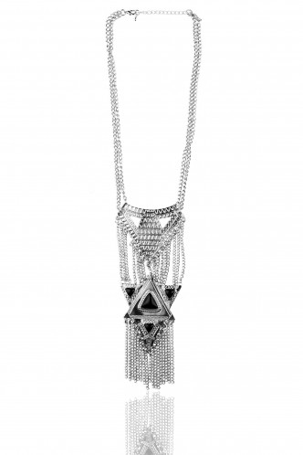 Necklaces-Tribe Of Bohemian Silver Necklace