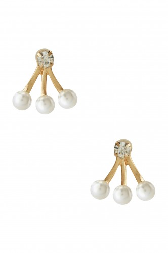 Earrings-Trio Of Pearls Earring