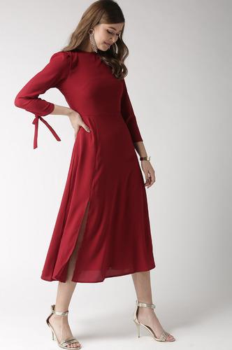 Dresses-Twirling In Flair Midi Dress