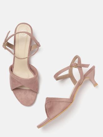Heels and Wedges-Twist In The Step Kitten Heels