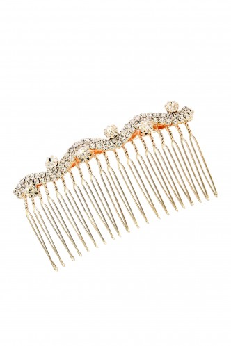 Hair Accessories-Up And Down The Curve Studded Haircomb