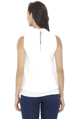 Tops-White Double Up On Layers Top