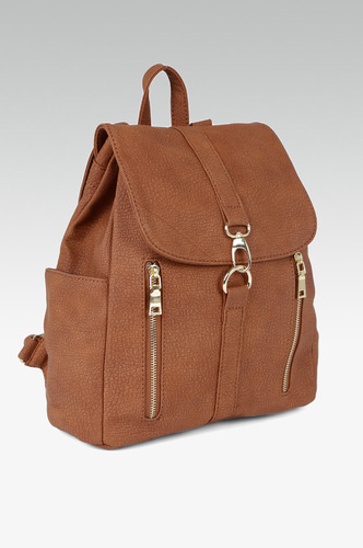 Backpacks-Zipped And Buckled Up Backpack